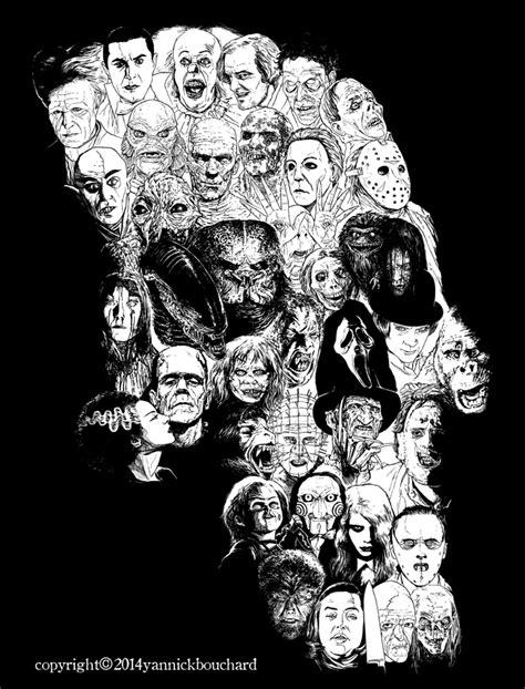 Skull Collage Design Outline by Horror Skull By Yannickbouchard On Deviantart