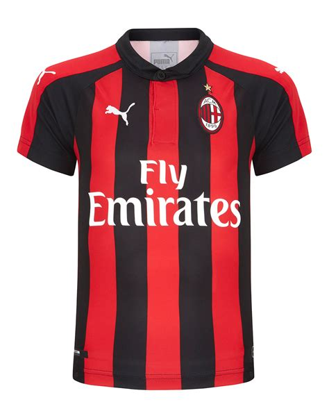 Jersey Go Ac Milan Home ac milan 18 19 home jersey style sports