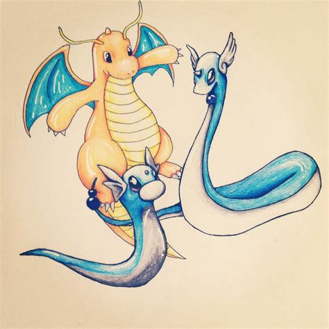 dragonair sketch by coolman666 on deviantart pokemon pokemon dratini dragonair dragonite by aimss art on
