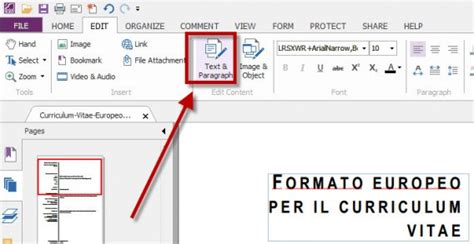 how to save a testo come modificare un file pdf