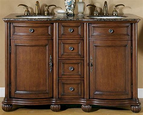 silkroad bathroom vanities silkroad 52 quot double bathroom vanity brown granite top
