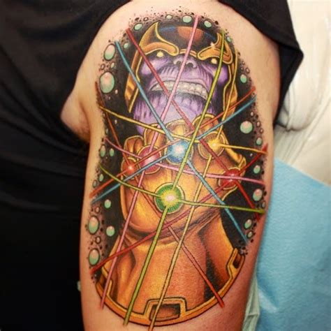 thanos tattoo 35 amazing comic book tattoos