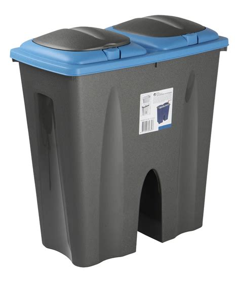 Kitchen Recycle Trash Can by 50l Duo Bin Waste Garbage Trash Can Separator Double Side
