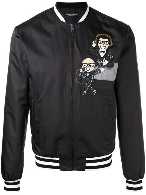 Dolce Jacket lyst dolce gabbana zip up jacket in black for