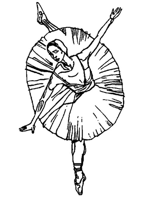 Ballerina Coloring Ballerina Coloring Pages Free