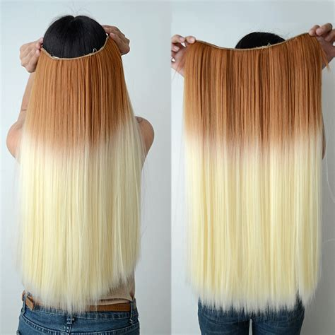 how to dye clip in hair extensions 24 quot two tone dip dyed ombre 5 clip in hair