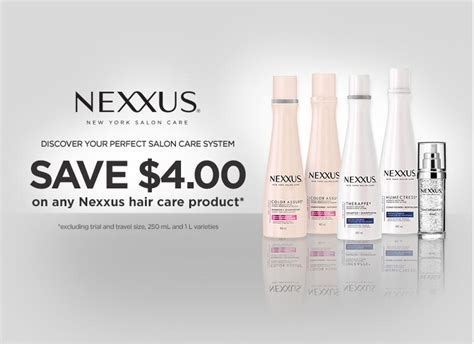 walmart canada coupons save 4 on nexxus hair care