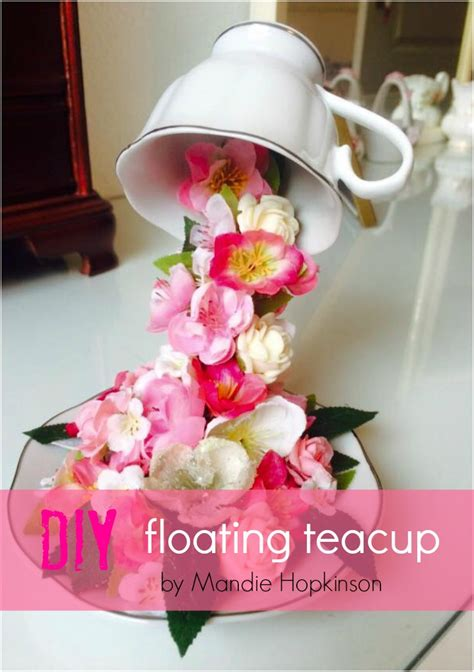 Floral Centerpieces Christmas - how to make a floating teacup grillo designs