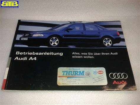 Bedienungsanleitung Audi by Bedienungsanleitung Betriebsanleitung Bordbuch Audi A4