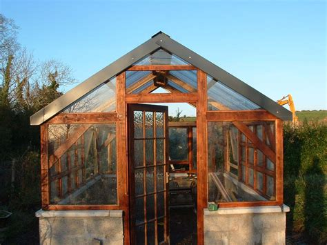 Green Housing Plans timber frame greenhouse w recycled windows recycled