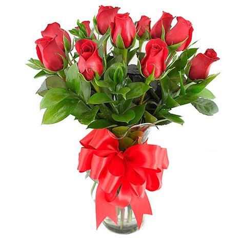 imagenes de rosas multicolores jarr 243 n con 12 rosas rojas