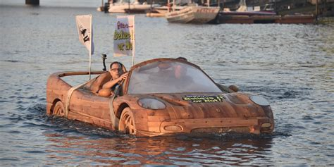 boat ride white rock lake check it out ripley s wooden ferrari looks like a car