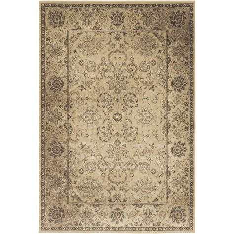 artistic rug artistic weavers katonah gold 6 ft 7 in x 9 ft 6 in indoor area rug s00151016133 the home