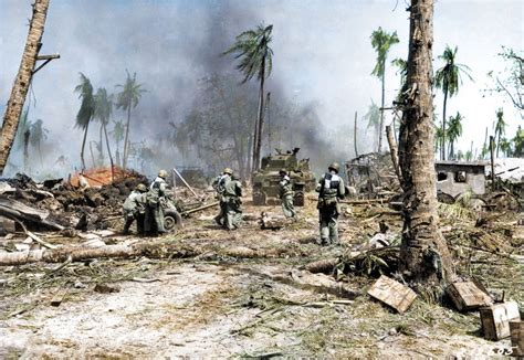 the color war horrors of pacific war brought to in colour photos