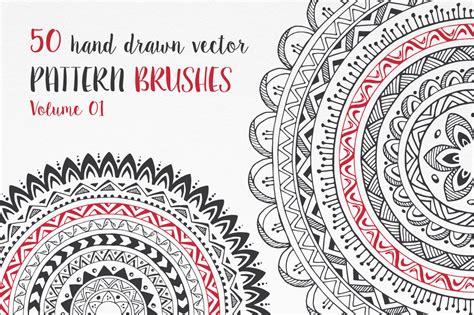 pattern brush c hand drawn pattern brushes bundle vol 01 02 03 by
