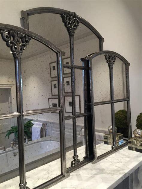swedish antique small slow arch decorative mirror antique