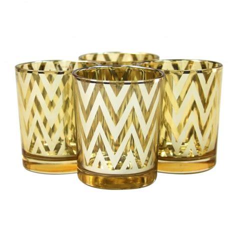 Gold Candlestick Holders Bulk Chevron Votive Candle Holders 2 5 Gold 424306