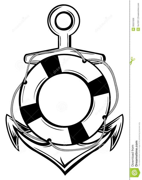 Awning Boat Anchor And Ring Buoy Royalty Free Stock Image Image