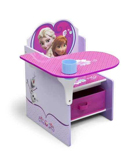 desk and chair with storage bin delta children chair desk with storage bin disney frozen