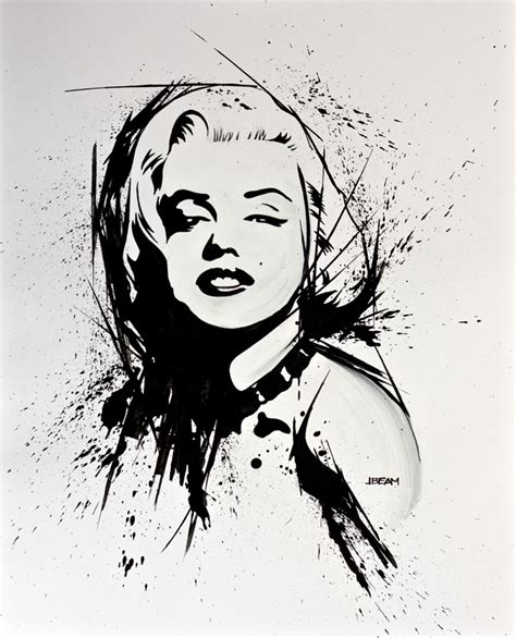 illustration marilyn monroe jason beam graphic