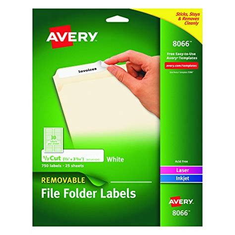 avery hanging file folder labels template avery removable white file folder labels 750 pack 8066