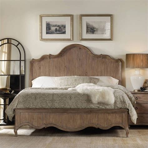 light wood bed hooker furniture corsica panel bed in light wood 5180 902xx