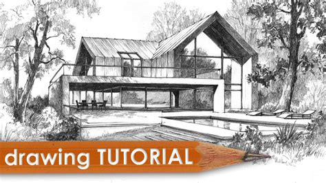 draw your house drawing tutorial how to draw a modern house