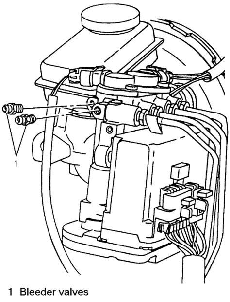 repair anti lock braking 1989 pontiac grand am parking system repair guides anti lock brake system bleeding the abs system autozone com