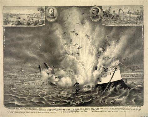 sinking of the maine u s battleship maine explodes triggering spanish