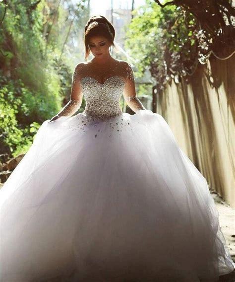 aliexpress com buy elegant luxury bride long sleeve ball