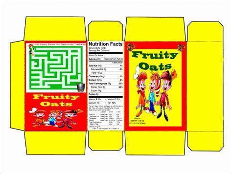 14 Nutrition Label Template Excel Exceltemplates Exceltemplates Custom Cereal Box Template