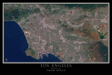 map of los angeles poster los angeles california satellite poster map terraprints