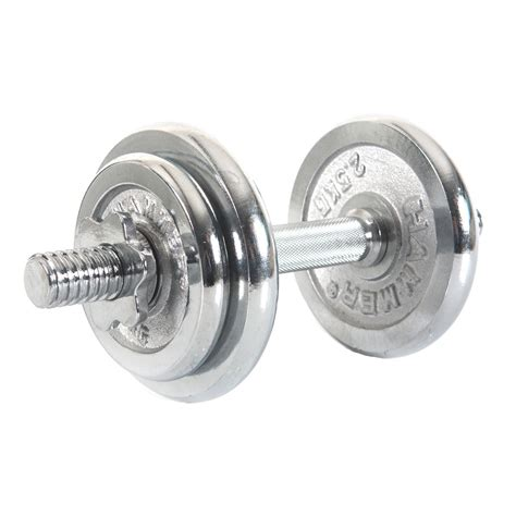 Dumbell Set 10 Kg finnlo by hammer 10 kg dumbbell set chrome 216 30 mm