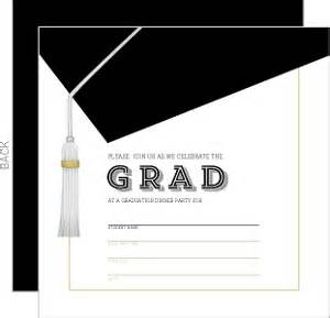blank graduation invitations diy graduation invitations