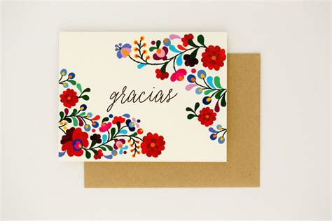 You Gift Card - destination wedding thank you cards gracias colorful