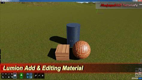 lumion tutorial beginner lumion add editing material tutorial youtube