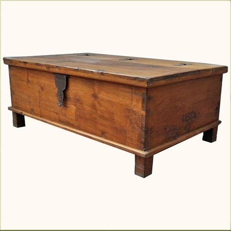 Storage Chest Coffee Table Rustic Teak Wood Wrought Iron Distressed Coffee Table Storage Box Che