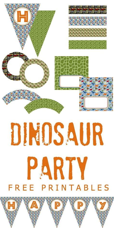 free printable dinosaur party decorations dinosaur party free printables dinosaur party ideas