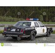 Old Police Car Stock Photo Image Of Enforcement Vehicle