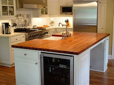 kitchen island counter mesquite wood countertop photo gallery by devos custom