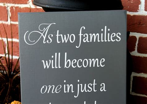 Wedding Quotes Welcome To The Family by 11 X 23 Wooden Wedding Sign As Two Families Will