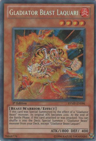 Gladiator Beast Lanista Rymp En106 Common Unlimited Yu Gi Oh Card keeper
