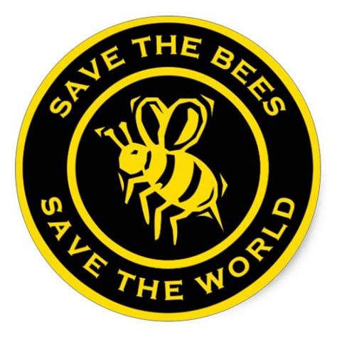 Save The Bee 241 save the bees stickers and save the bees sticker designs zazzle