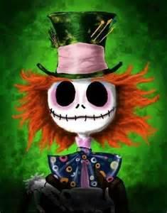jack skellington as the mad hatter nightmare pinterest