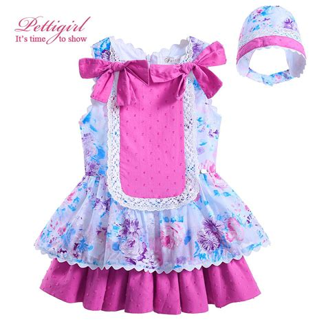 Dress Baby 02 Bunga Pink pettigirl newest cotton princess flower dress pink bow boutique infant dresses baby