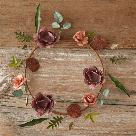 pressed metal flower wreath terrain