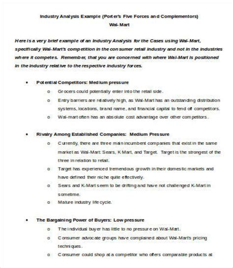 Industry Analysis Template 8 Free Sle Exle Format Free Premium Templates Industry Analysis Template