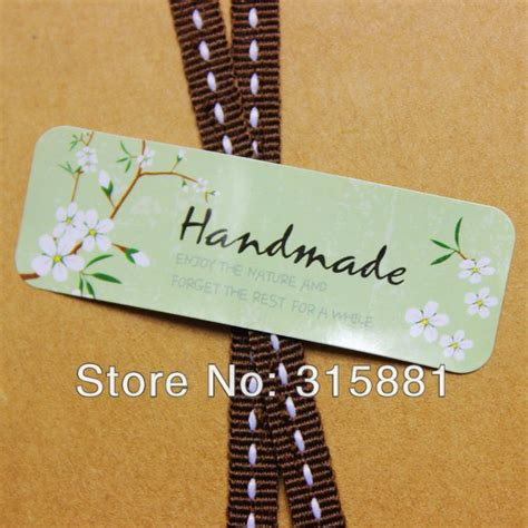 Selling Handmade Items In A Store - aliexpress buy handmade labels wedding favor decals