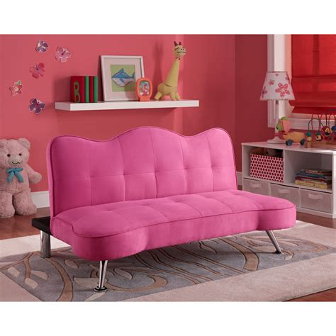 kids bed settee convertible sofa bed couch kids futon lounger girls pink