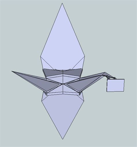 origami crane free 3d model 3d printable stl cgtrader